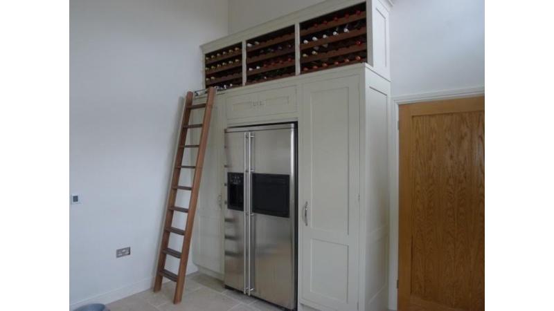 Rolling Ladder in Kitchen
