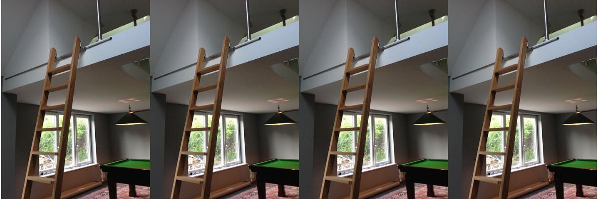 Rolling Ladder Mezzanine Access