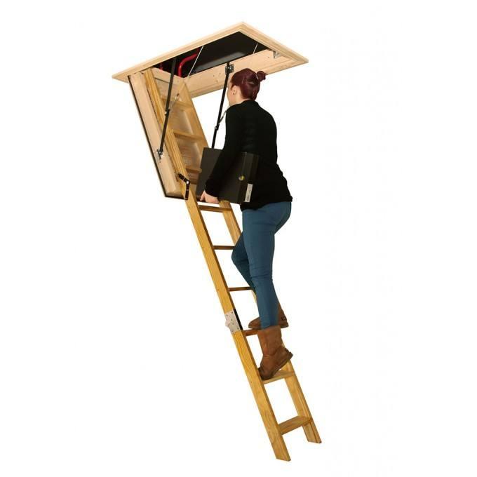 Stira Electric Timber Loft Ladder