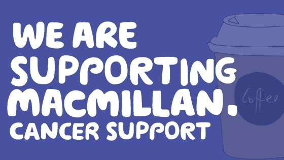 We are supporting Macmillan coffee morning