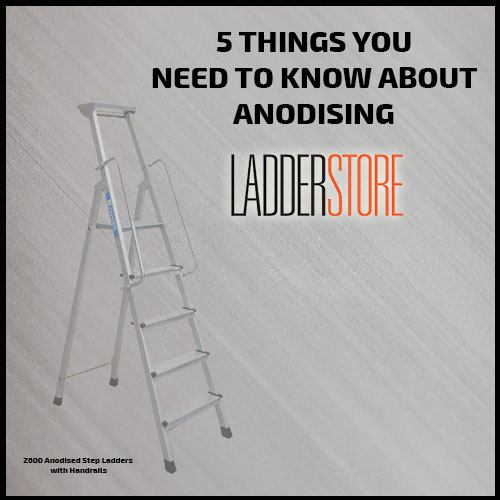 Anodising ladders graphic - blog banner image