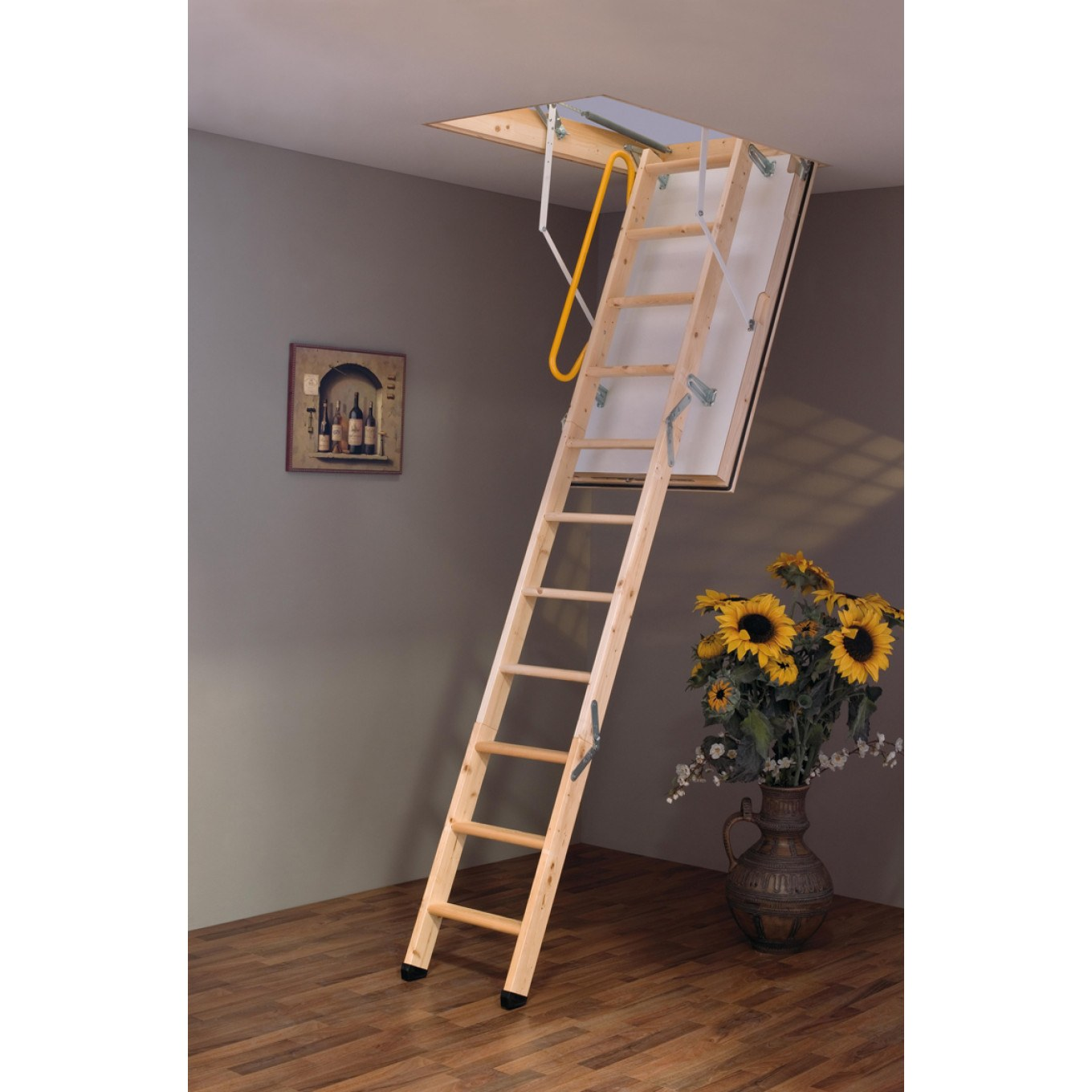Luxfold 3 Section Wooden Loft Ladder With 87mm Insulated Hatch