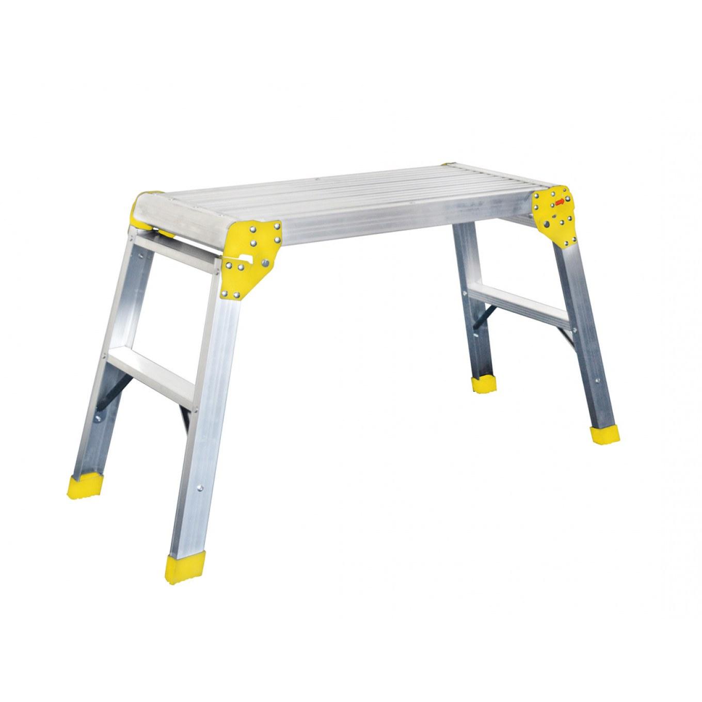 Excel 600mm x 600mm Aluminium Hop up Platform Step Work Bench Folding Size New