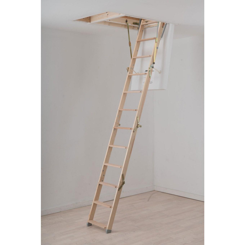 Werner Click Fix 56 Timber Loft Ladder With Hatch - Timber