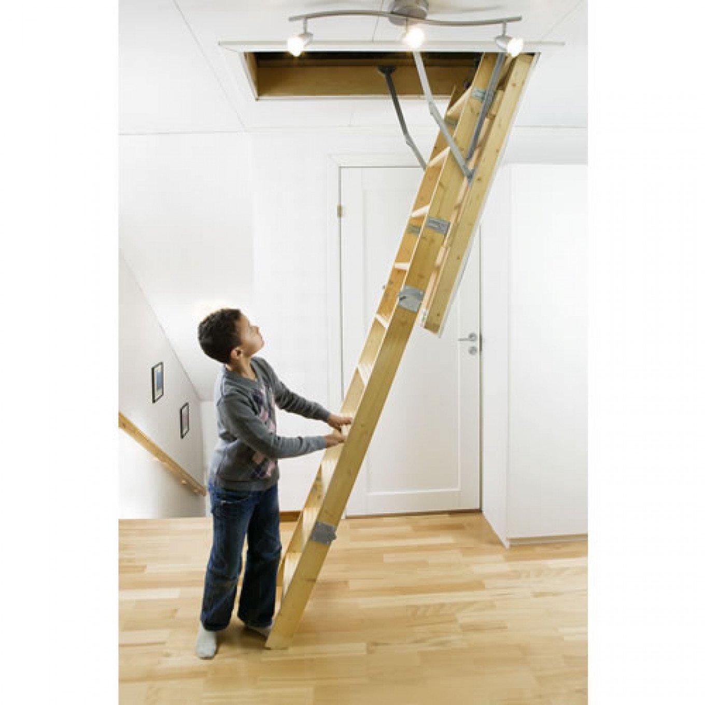 Midmade Folding Timber Loft Ladder 700 X 1130mm Extra Insulation