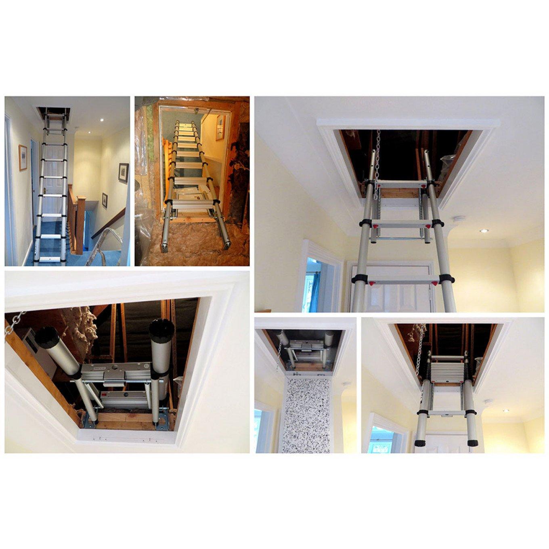 Photos of Neilu0027s recent installation of the Youngman Telescopic Loft Ladder. Photos of Neilu0027s recent installation of the Youngman Telescopic Loft Ladder  sc 1 st  Ladderstore.com & Youngman Telescopic Loft Ladder - 2.6m - Aluminium Loft Ladders ...
