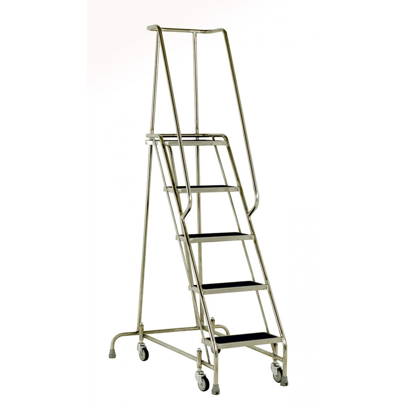 Steptek Stainless Steel Mobile Steps   Warehouse Mobile Safety Steps    Warehouse Steps   Ladders Ladderstore.com