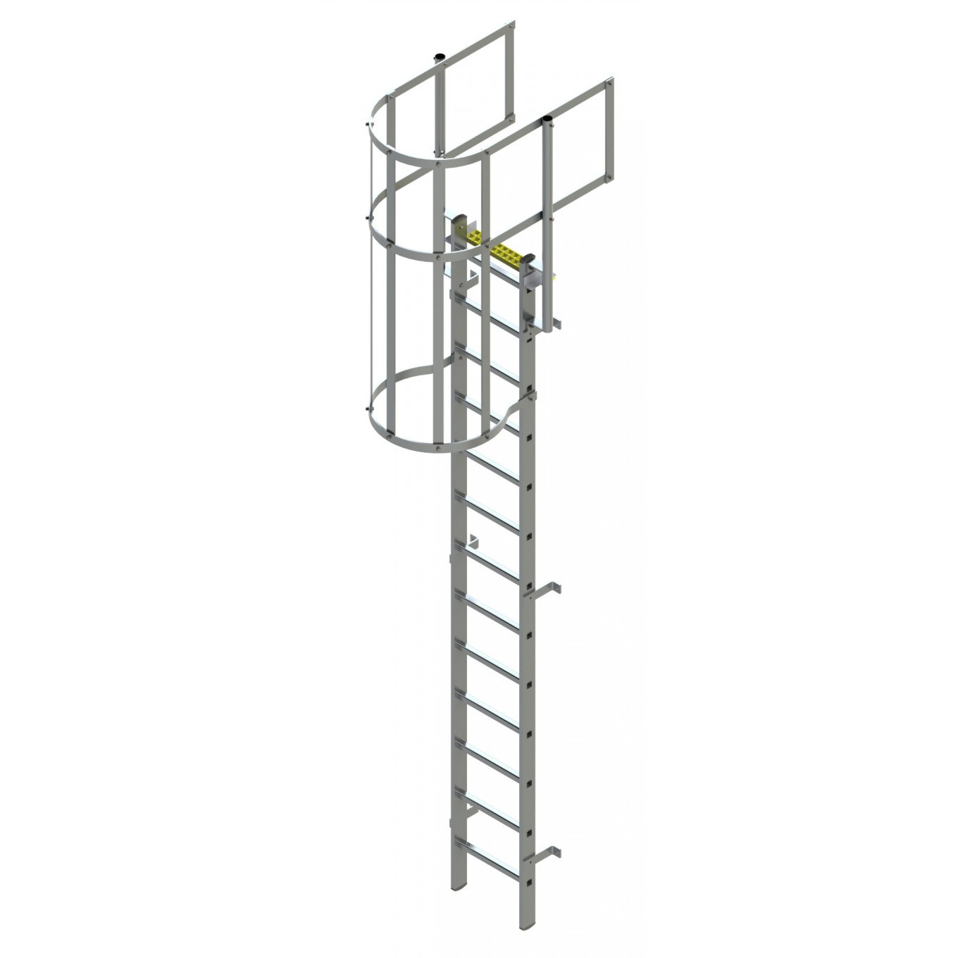Fixed Vertical Ladder With Safety Cage Walkthrough