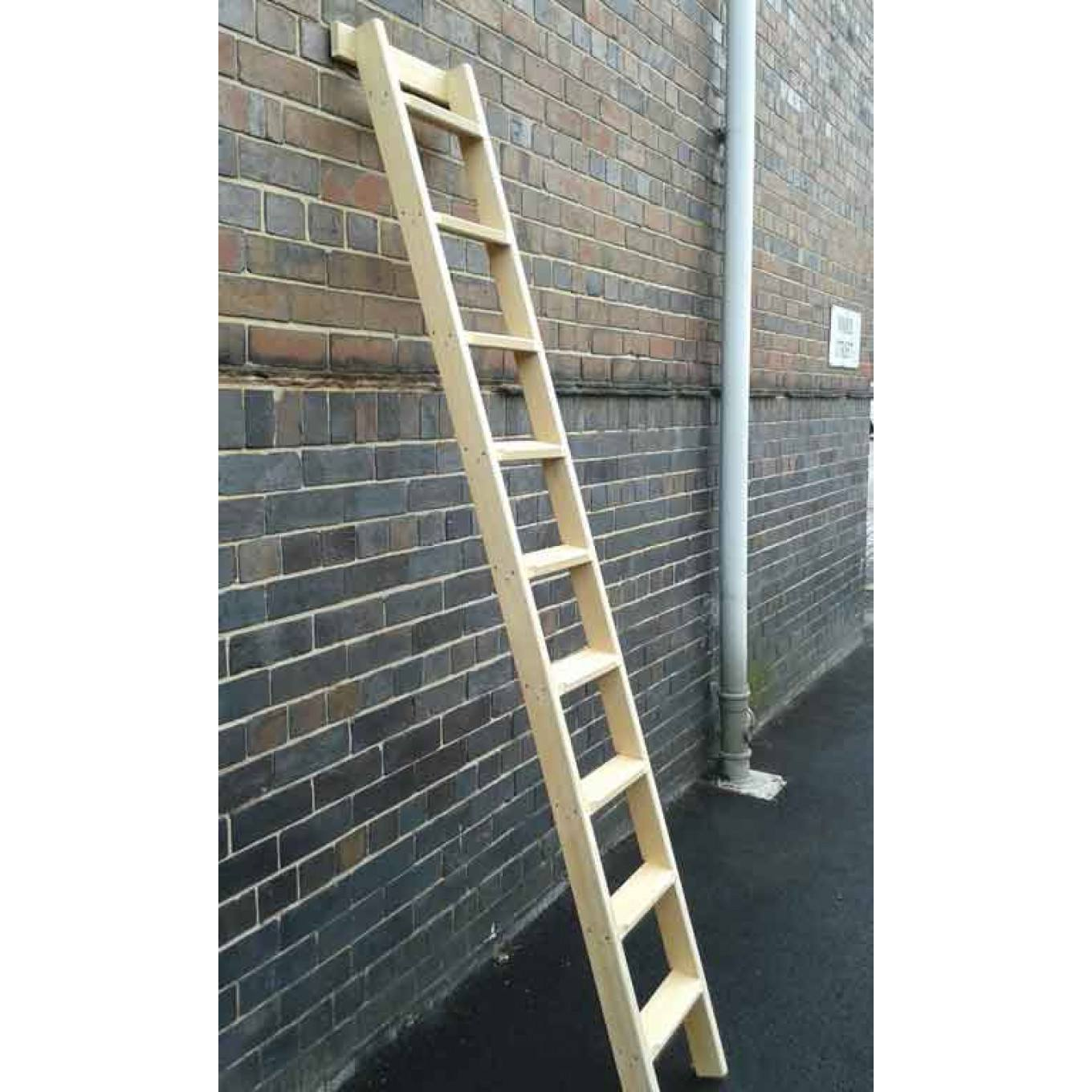Traditional Timber Shelf Ladders