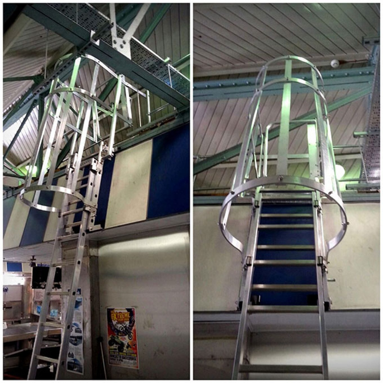 Doncaster Market Bespoke Vertical Fixed Access Ladder