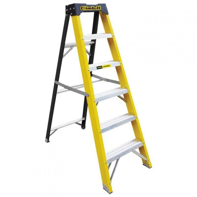 GPC Climb It Fibreglass Swing Back Step Ladder