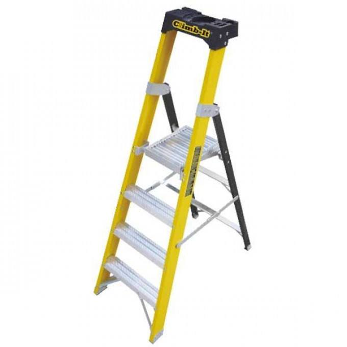 GPC Climb It Fibreglass Platform Step Ladder