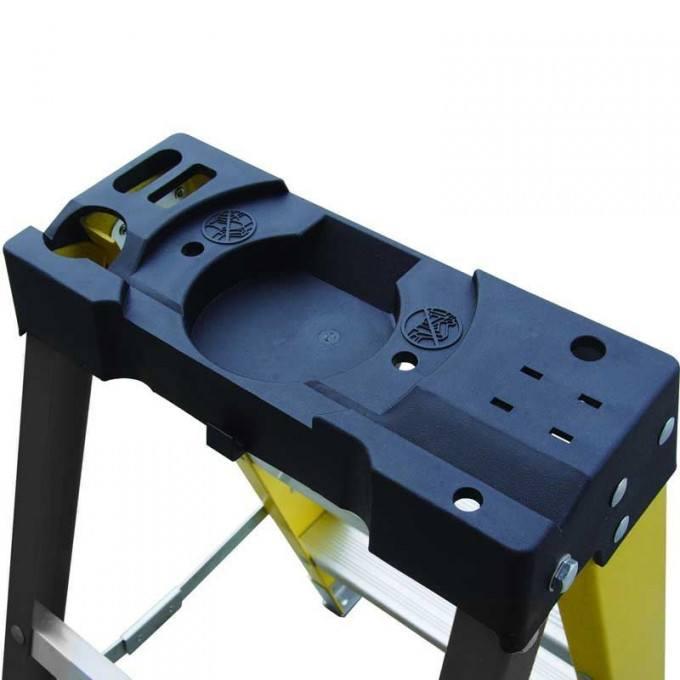GPC Climb It Fibreglass Swing Back Step Ladder - 8 Tread