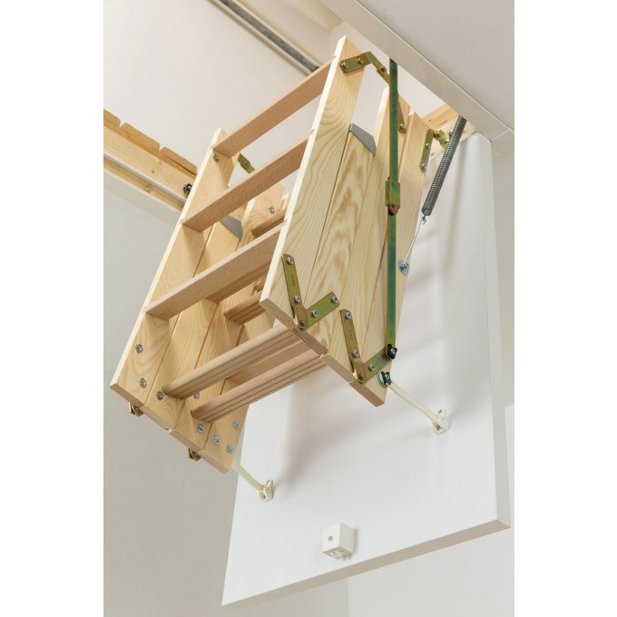 Werner-Click-Fix-36-Timber-Loft-Ladder-Stored