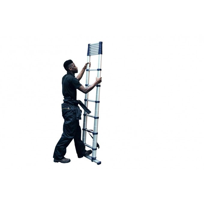 Man Extending Xtend+Climb Telescopic Ladder
