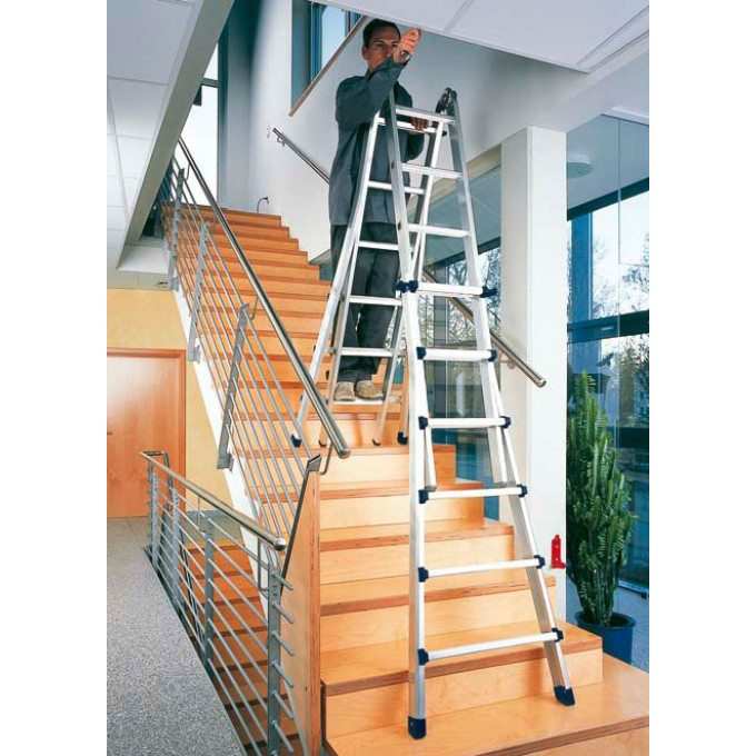 Zarges Z600 4 Part Telescopic Ladder - 4 x 4 Rungs