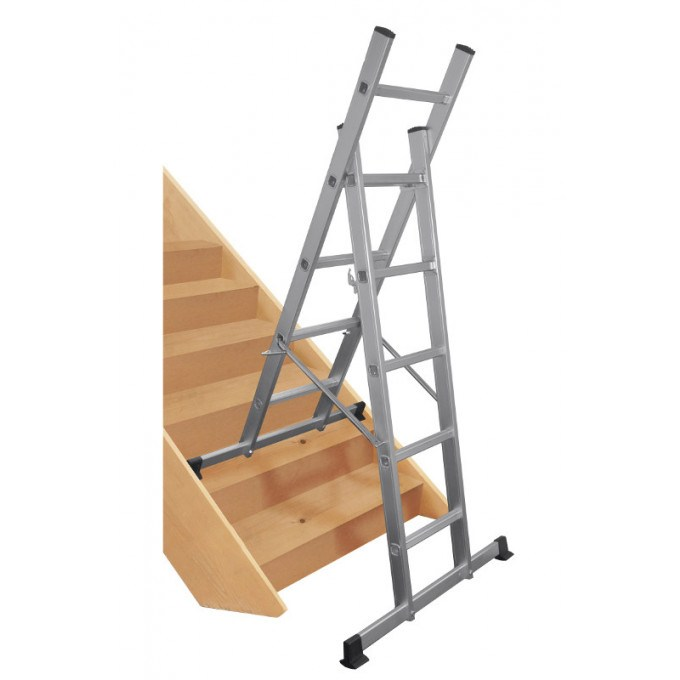 Youngman Pro Ladder & Deck System On Stairs