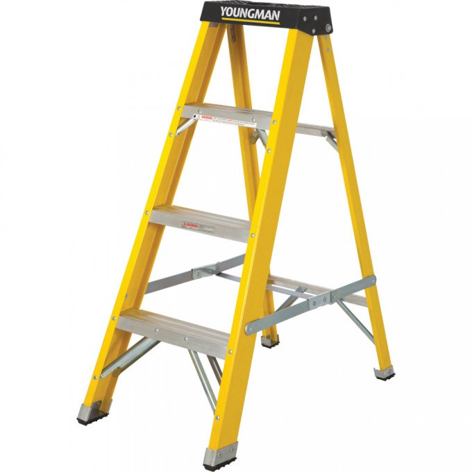 Catwalk S400 Glass Fibre Stepladders - 4 Tread