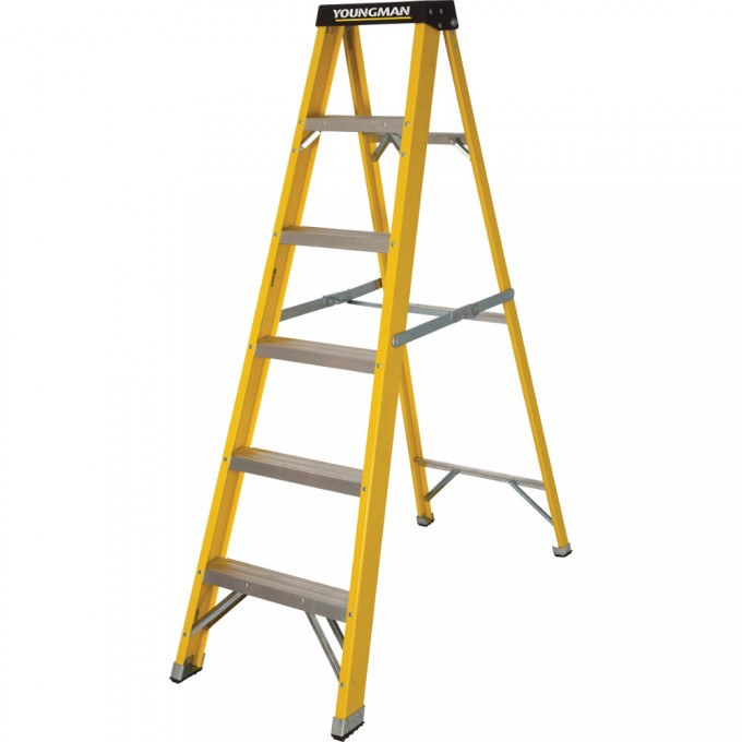 Catwalk S400 Glass Fibre Stepladders - 6 Tread