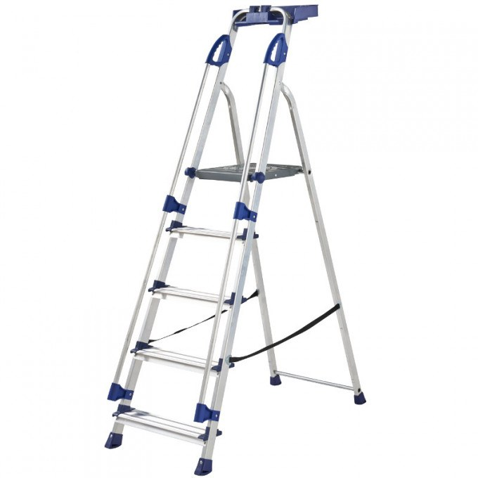 Werner Blue Seal Platform Stepladders with Handrails