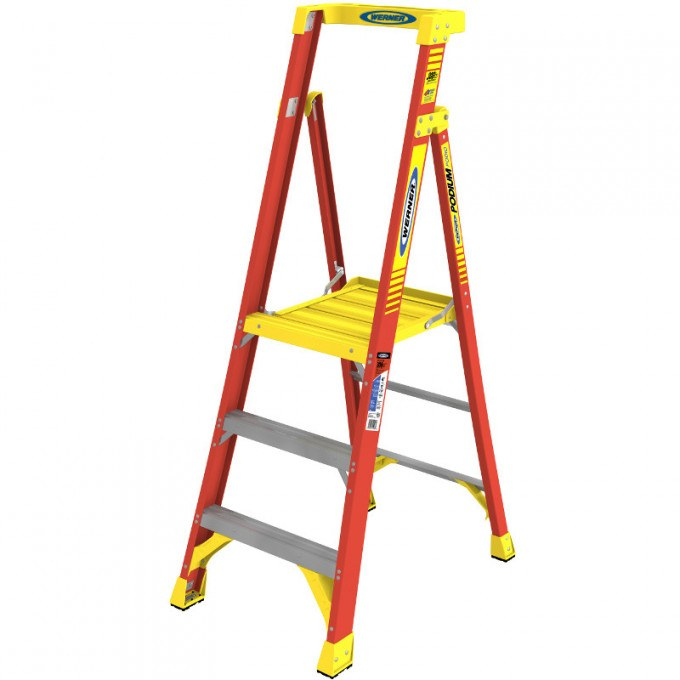 Werner Fibreglass Podium Step Ladders