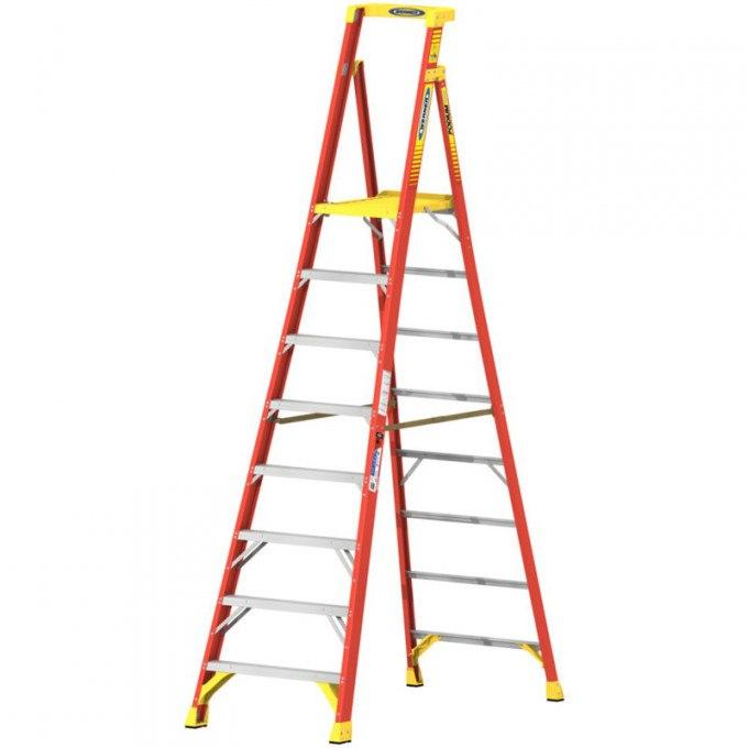 Werner Fibreglass Podium Step Ladders