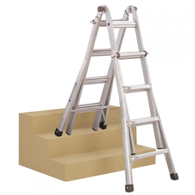 Werner Telecsopic Combination Ladder On Stairs