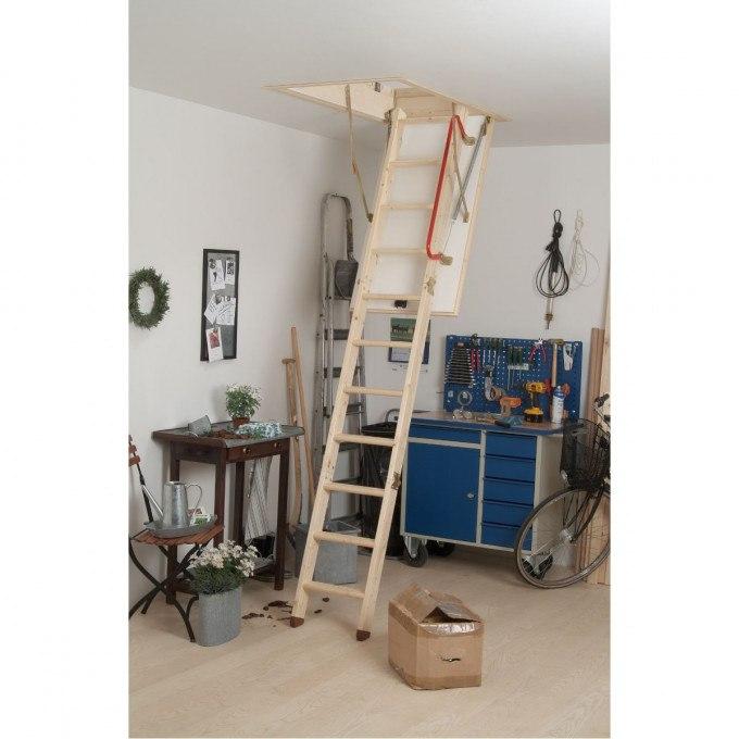 Hideaway Loft Ladder in house