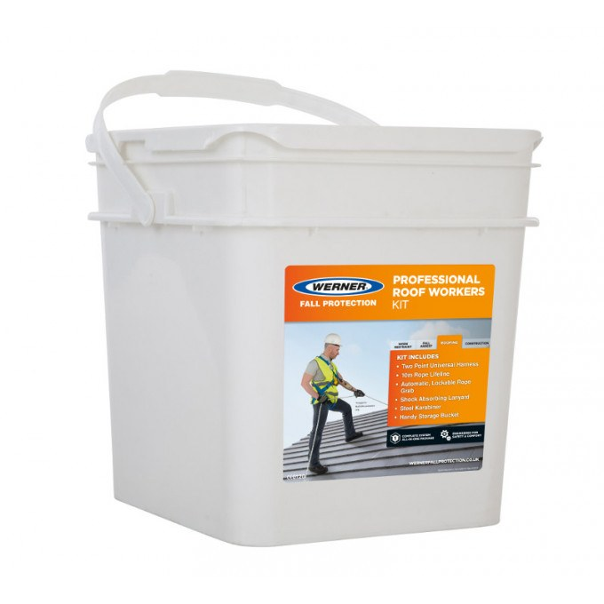 Professional Roof Workers Safety Fall Arrest Kit Storage Bucket