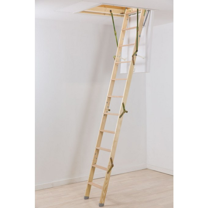 Werner-Click-Fix-36-Timber-Loft-Ladder