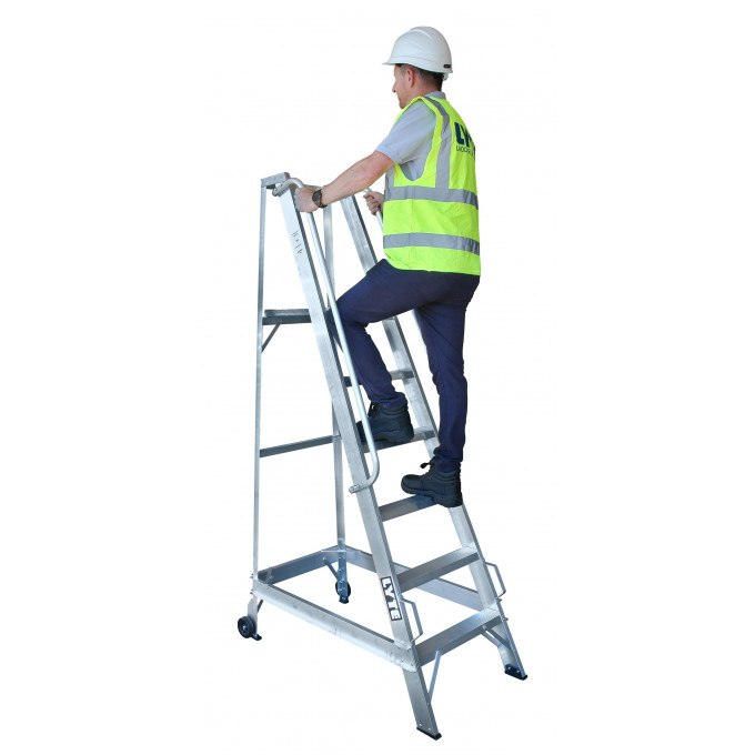 Lyte Wide Platform Stepladders with Handrails