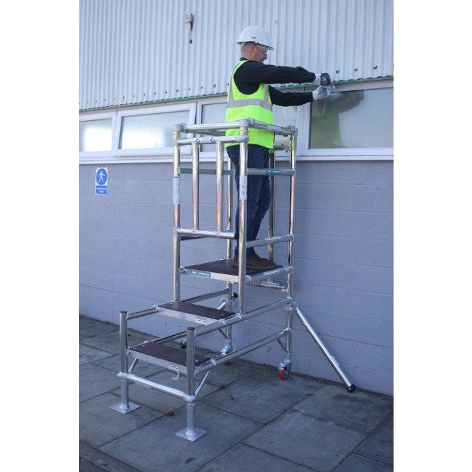 Stepfold BS8620 Certified Aluminium Podium In Use