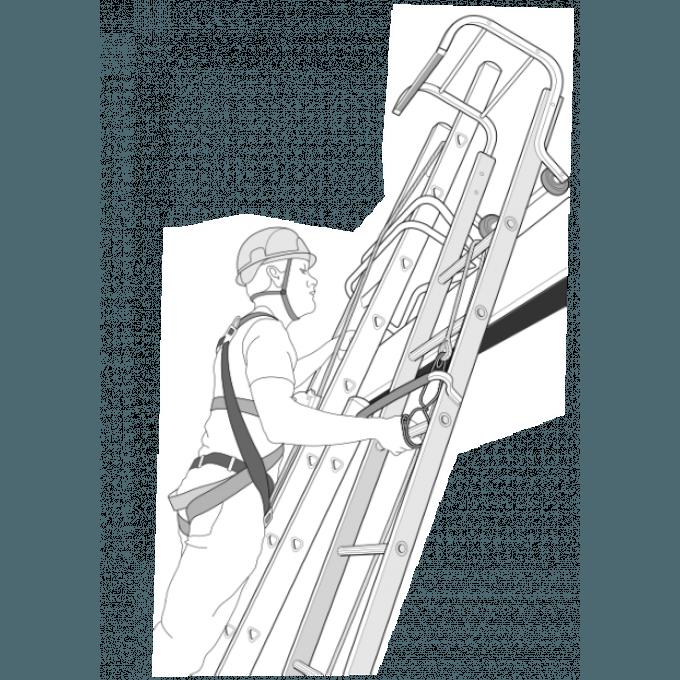 Heavy Duty Industrial Extending Roof Ladders - 4.83 m