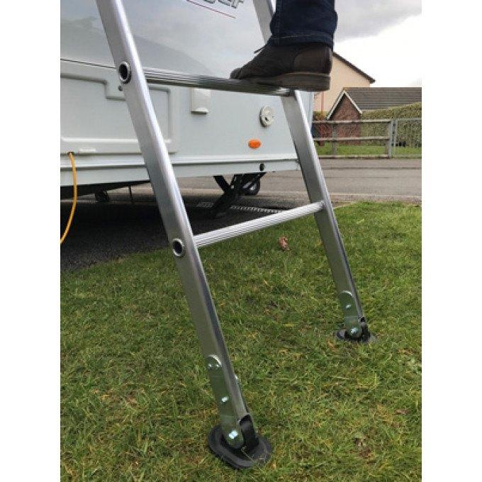 Large Swivel Feet On Chase Caravan Ladder