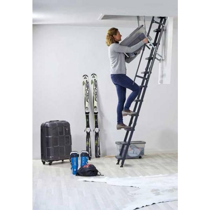 Loft ladder in use