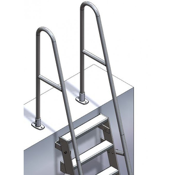 Companionway Ladder Extended Handrails With Return