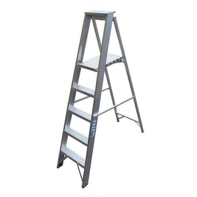 Heavy Industrial Platform Stepladders - 3 Tread