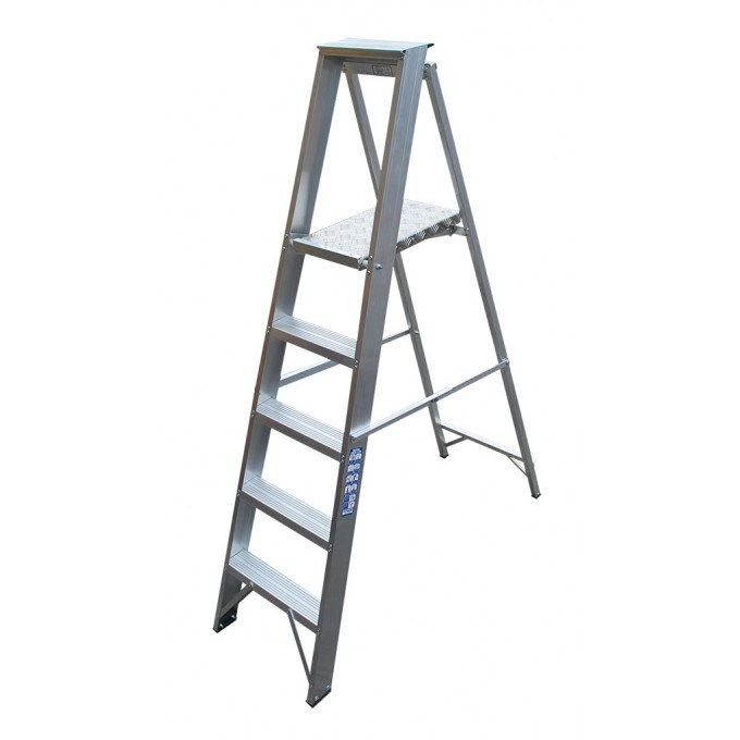 Heavy Industrial Platform Stepladders - 8 Tread