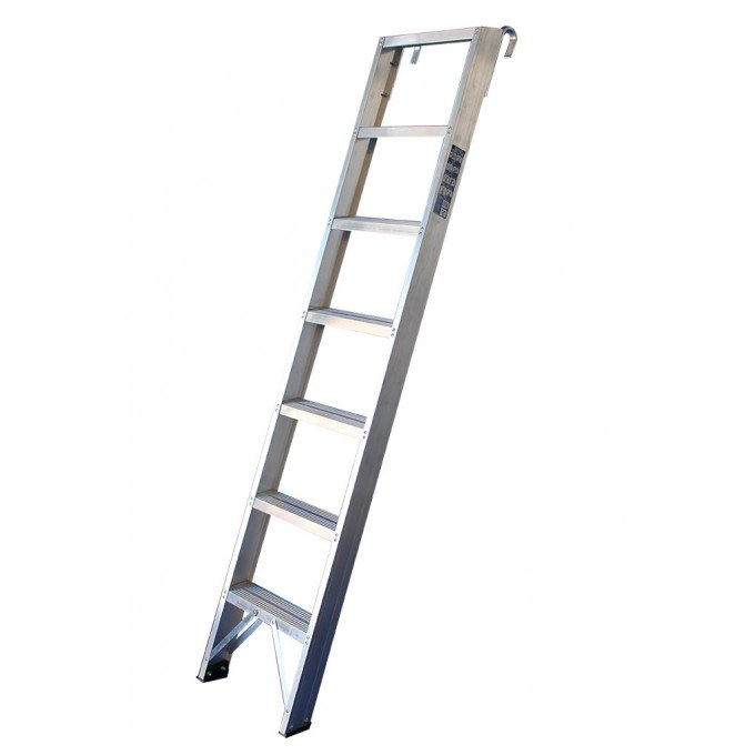 Aluminium Shelf Ladders - 7 Tread