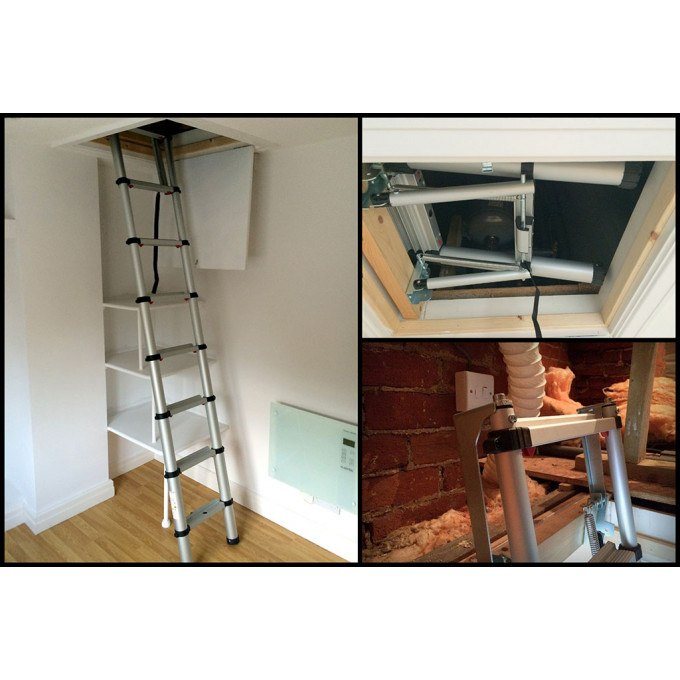 Photos of David's recent installation of the Youngman Telescopic Loft Ladder