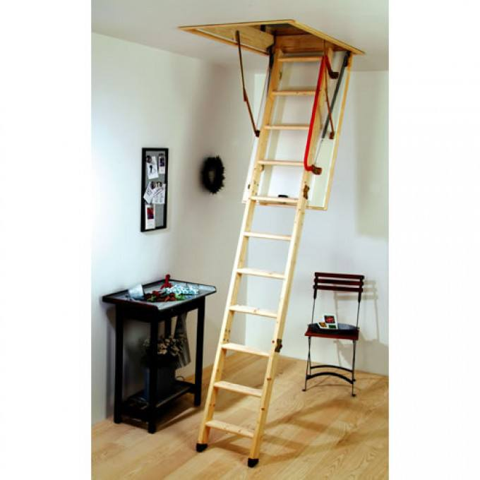 Youngman Eco S Line Extra Tall Timber Loft Ladder