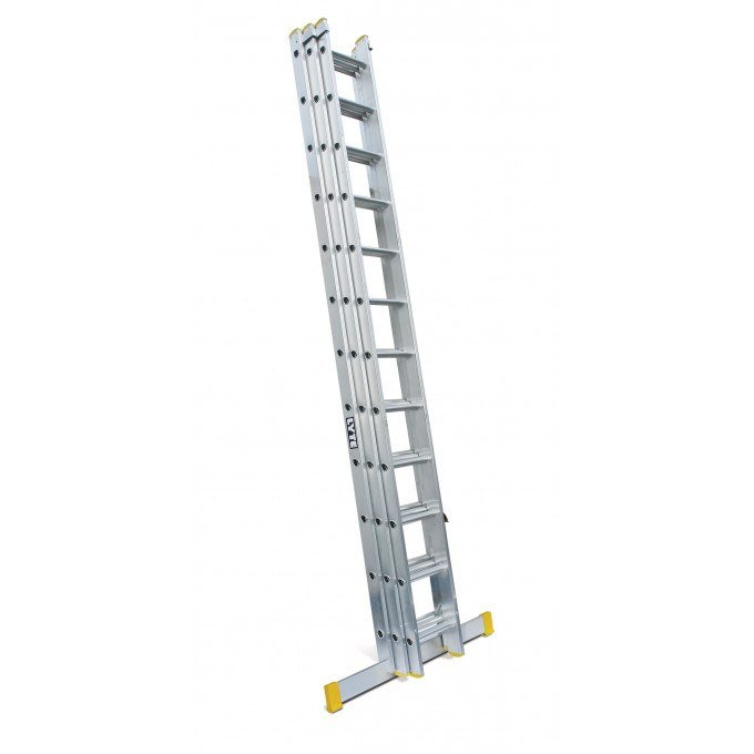 Lyte 3 Section EN131 Professional Extension Ladder - 3 x 14 rungs