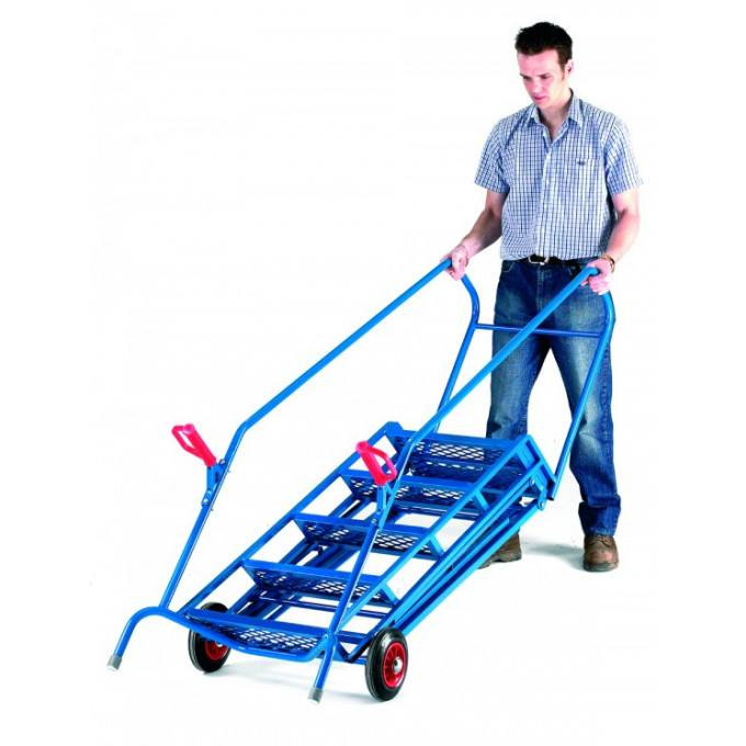 Quick Folding Mobile Warehouse Steps