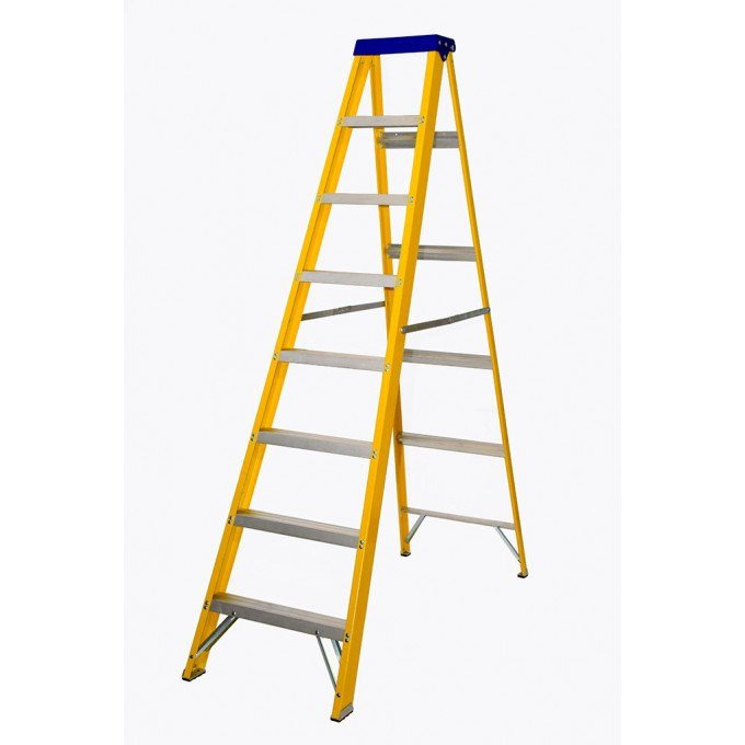 Lyte EN131 Professional Glassfibre Swingback Stepladder - 8 Tread