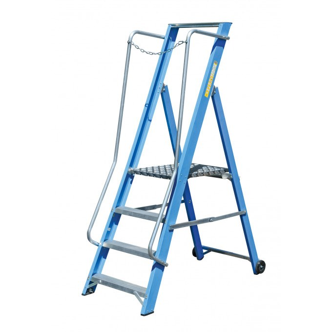 Lyte Glass Fibre Wide Stepladder Certified to EN131 Professional