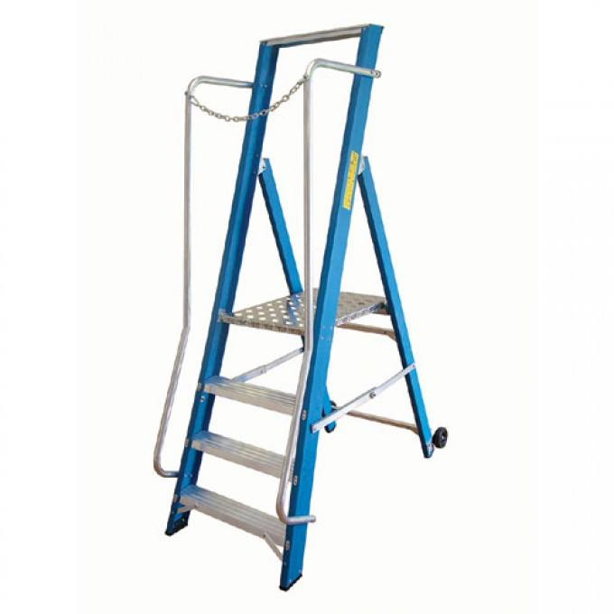 Lyte Glass Fibre Wide Stepladder - 5 Tread