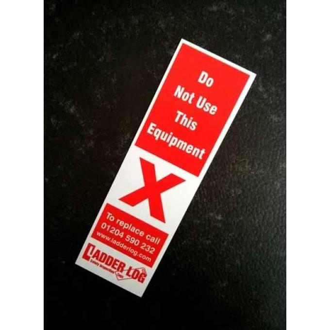 Ladderstore Ladder Log Safety Inspection Tag - Red