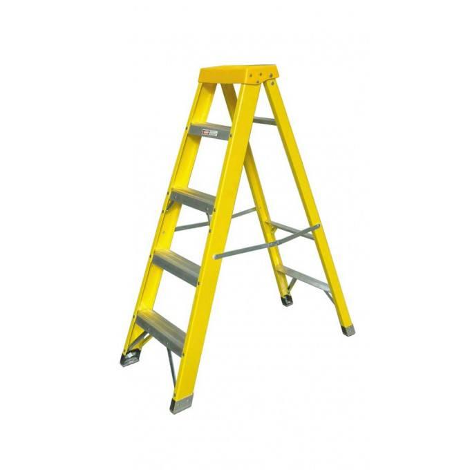 Zarges EN131 Professional GRP Swingback Step Ladders - 5 Tread