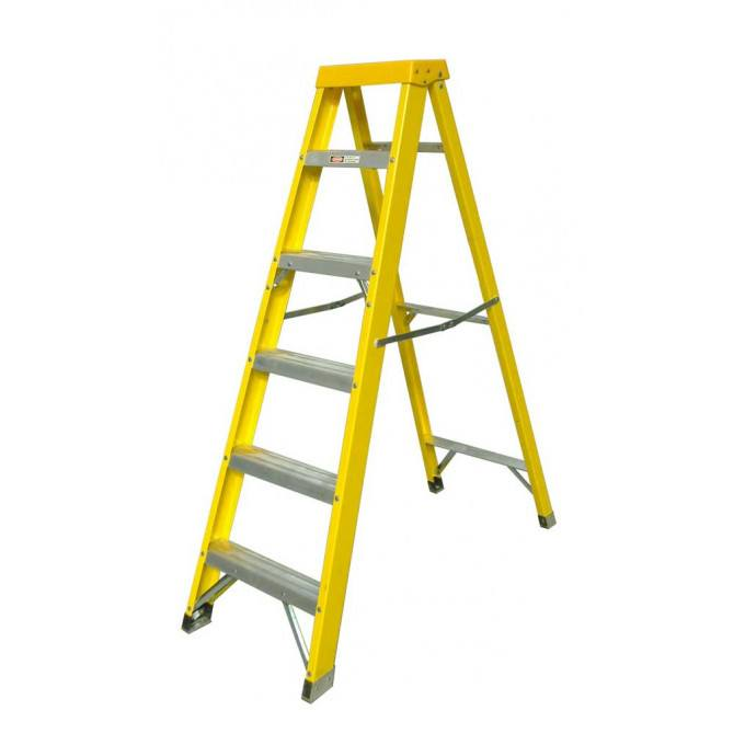Zarges EN131 Professional GRP Swingback Step Ladders - 6 Tread