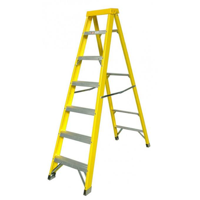 Zarges EN131 Professional GRP Swingback Step Ladders - 7 Tread